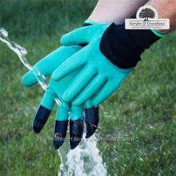 Перчатки для сада и огорода с когтями, Garden Genie Glovers садовые перчатк