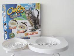 Система приучения кошек и котов к унитазу Citi Kitty, приучение на унитаз