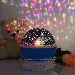Ночник проектор звездное небо вращающийся Star master Dream rotating, свет