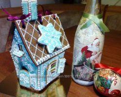 Пряничные домики, шкатулки, тематические прянички, пасхальные куличи