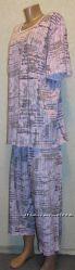 Пижама Газета хб трикотаж. Большой размер недорого от производителя