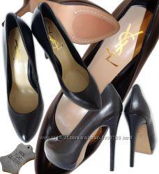 Yves Saint Laurent Итальянская кожа полностью Туфли известных брендов Не