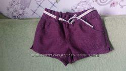 Шорты с костюмной ткани на подкладке 98-107
