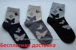 Бесплатная доставка. Женские носочки Бабочка. Житомир