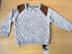 Серый свитер Rebel  для мальчика 3-5 лет, рост 110 см