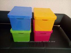 Ящик декоративный пластиковый с крышкой COLORS