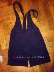 Pick-Up шорты  со шлейками микровельвет , р-р с-м