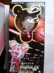 Super sparkle stick микрофон игрушечный - свет, звук