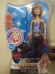 Шикарная барби Hanna Montana с одеждой и аксессуарами, 30см кукла