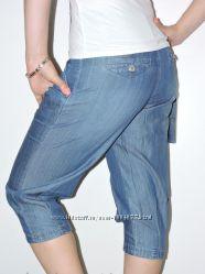 Отличные бриджи капри облегченній джинс