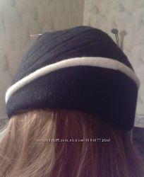 теплая двойная шапочка  ангора полиамид