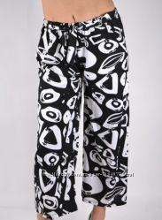 Модные трикотажные брюки кюлоты длина 3-4