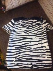 блуза зебра BOSS звериный принт 46-48,