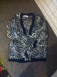 блуза бомбер, леопард 46-48, шифон