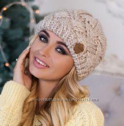 Теплая женская шапка Дюран на флисе