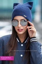 Очаровательная шапка с ушками для модниц
