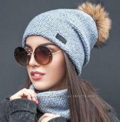 Комплект шапка бини и хомут