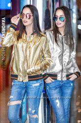 Новинка Блестящая куртка с нано покрытием