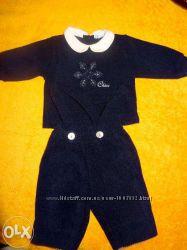 нарядный стильный костюмчик Chicco, мягкий теплый, со снежинкой