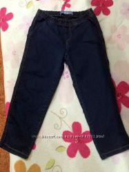 Новые джеггинсы джинсы , капри на резинке