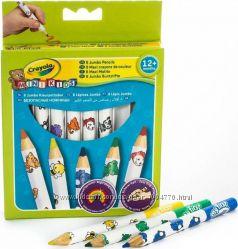 Crayola. 8 цветных карандашей из  красного дерева
