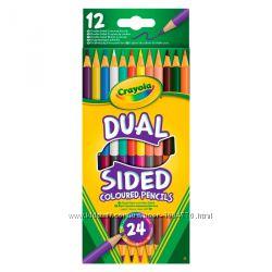 Crayola, Двусторонние цветные карандаши 12 шт.