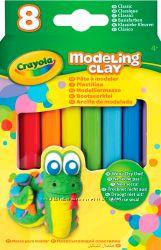 Незасыхающий пластилин, 8шт, Crayola