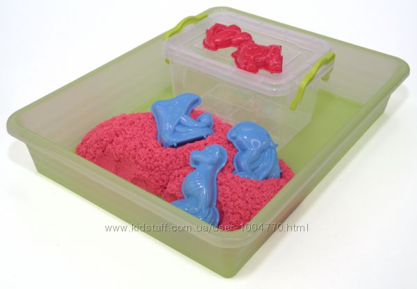 Набор для игры с цветным кинетическим песком 1 кг