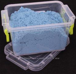 Цветной кинетический песок с контейнером и песочницей 1 кг
