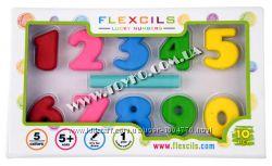 Цифры-карандаши  стирательная резинка Flexcils