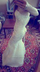 свадебное платье рыбка на худенькую