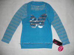 Яркие кофты, свитера США для девочки 5-7 лет