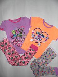Крутая яркая качественная пижама Garanimals США на девочку 5-6 лет