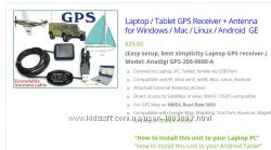 Laptop  Tablet GPS Receiver Antenna for Windows  Mac  Linux  Android