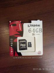 Продам карту памяти Kingston на 64 GB клас 10.
