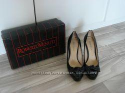 Очень красивые итальянские туфли на скрытой платформе