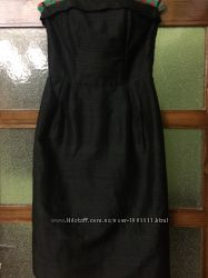 Платье -футляр с корсетом из натурального шелка