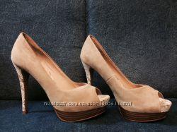 Туфли из натуральной замши ZARA WOMAN