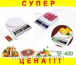 Электронные кухонные весы SF-400 на 7кг  Батарейки
