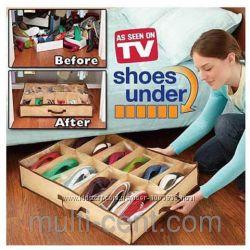 Органайзер для хранения обуви Shoes Under Шуз Андер на 4 отдела