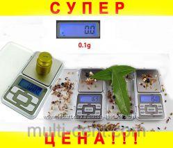 Карманные ювелирные весы 0, 1 - 500гр  батарейки.