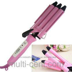 Профессиональная тройная плойка для волос Junjun Electrical JJ-928