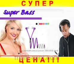 Наушники с микрофоном Zipper Супер Бас