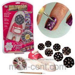 Набор машинка принтер штамп для дизайна ногтей стемпинга Hollywood Nails