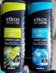Гель для душа Elkos Men 3in1 Елкос мен  300 ml  мужской Германия