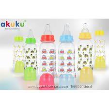 Бутылочка для кормления Akuku стандартная 250мл Польша