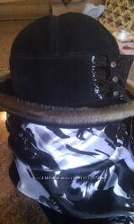 шляпка замшевая, теплая, состояние хорошее.