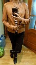 Massimo Dutti кожанная куртка Л