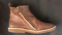 Деми Ботинки 34 , 22 см ортопедические нубук бычья кожа коричневые Германия