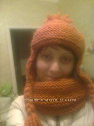 Шапка-ушанка  шарф-снуд